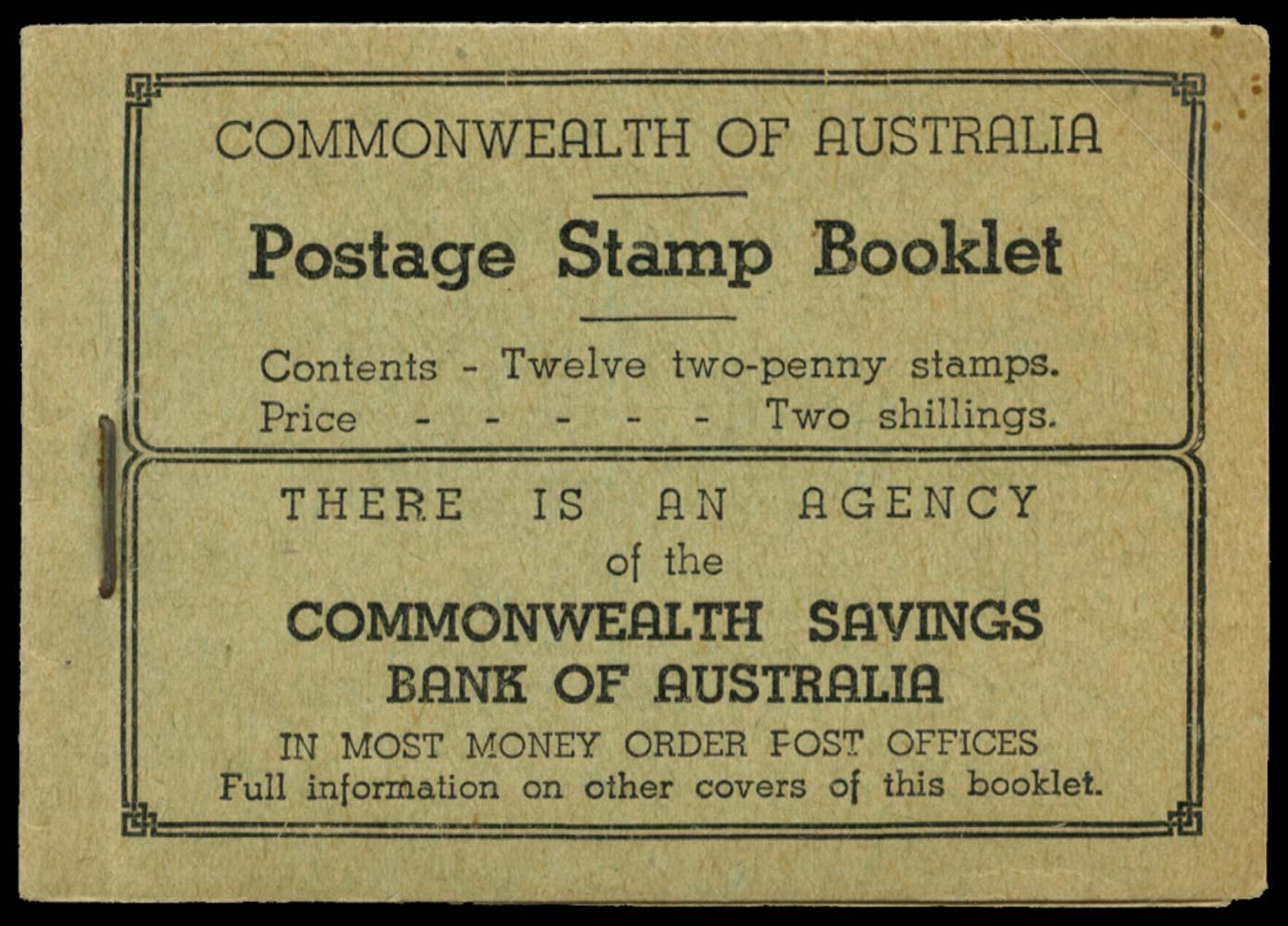 AUSTRALIA 1935  SGSB26ca Booklet