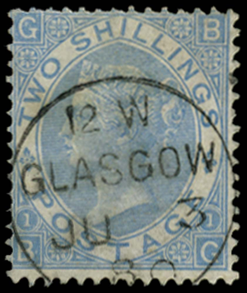 GB 1867  SG120b Pl.1 Used Milky blue example