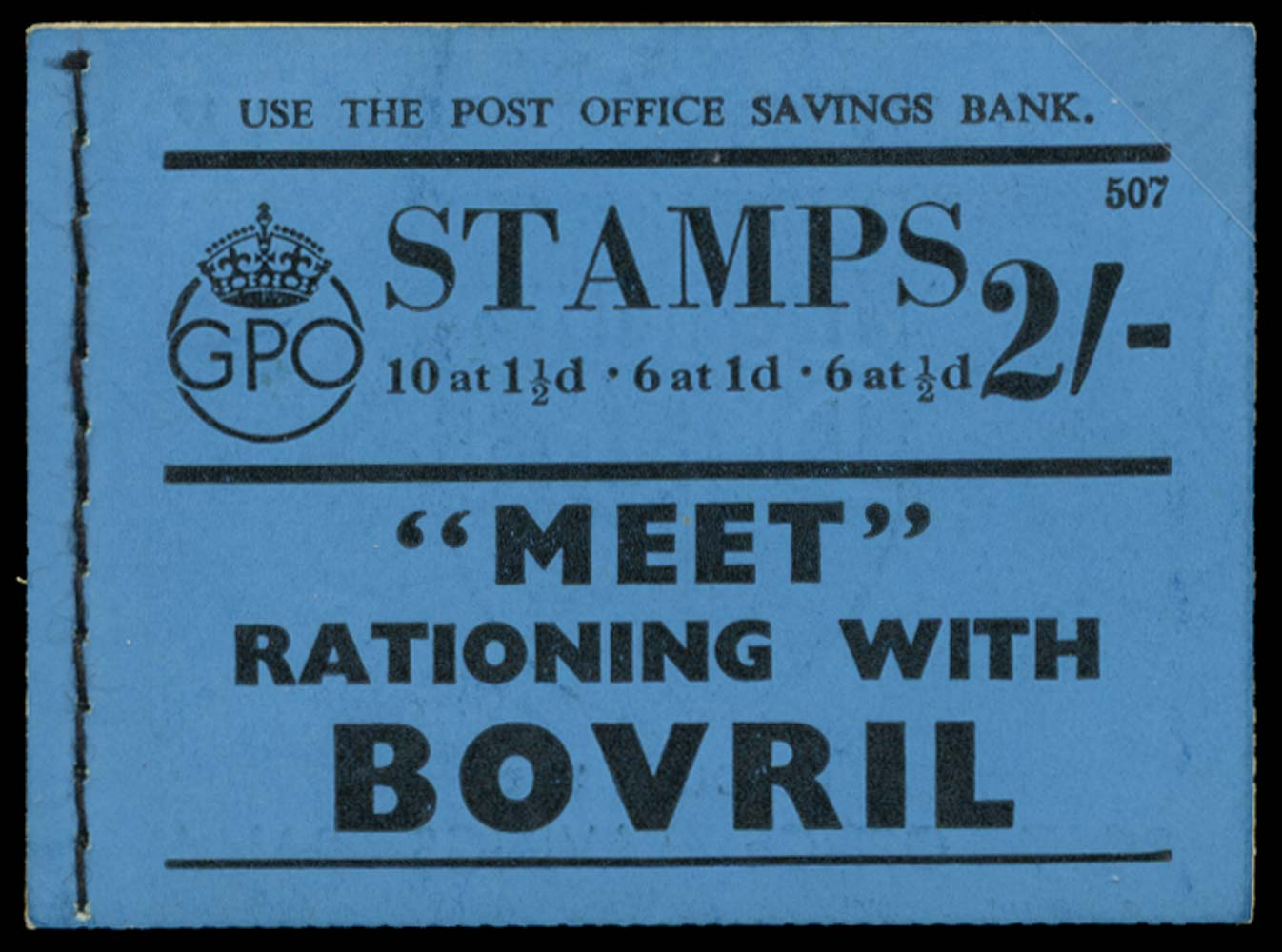 GB 1938  SGBD12 Booklet (Edition 507)