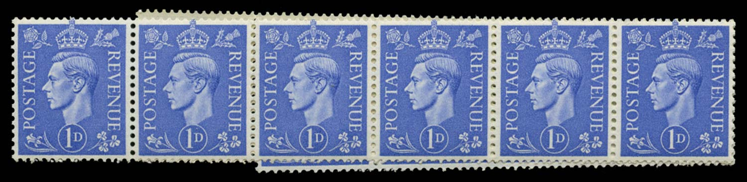 GB 1951  SG504ab Mint Retouched nose & forehead variety
