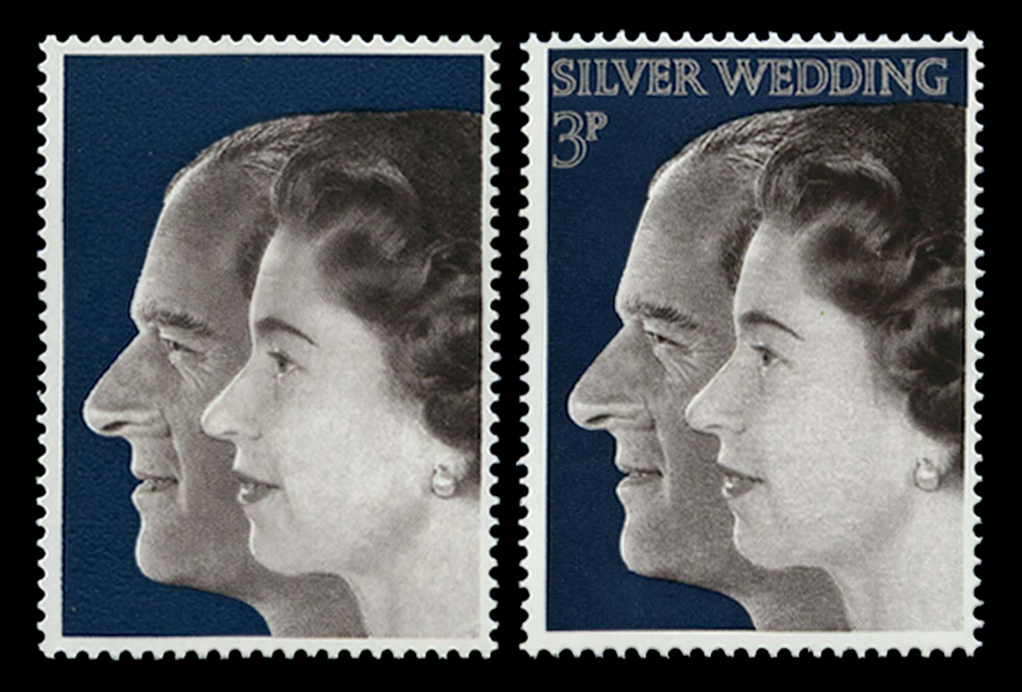 GB 1972  SG916a Mint - Silver (value and inscription) omitted