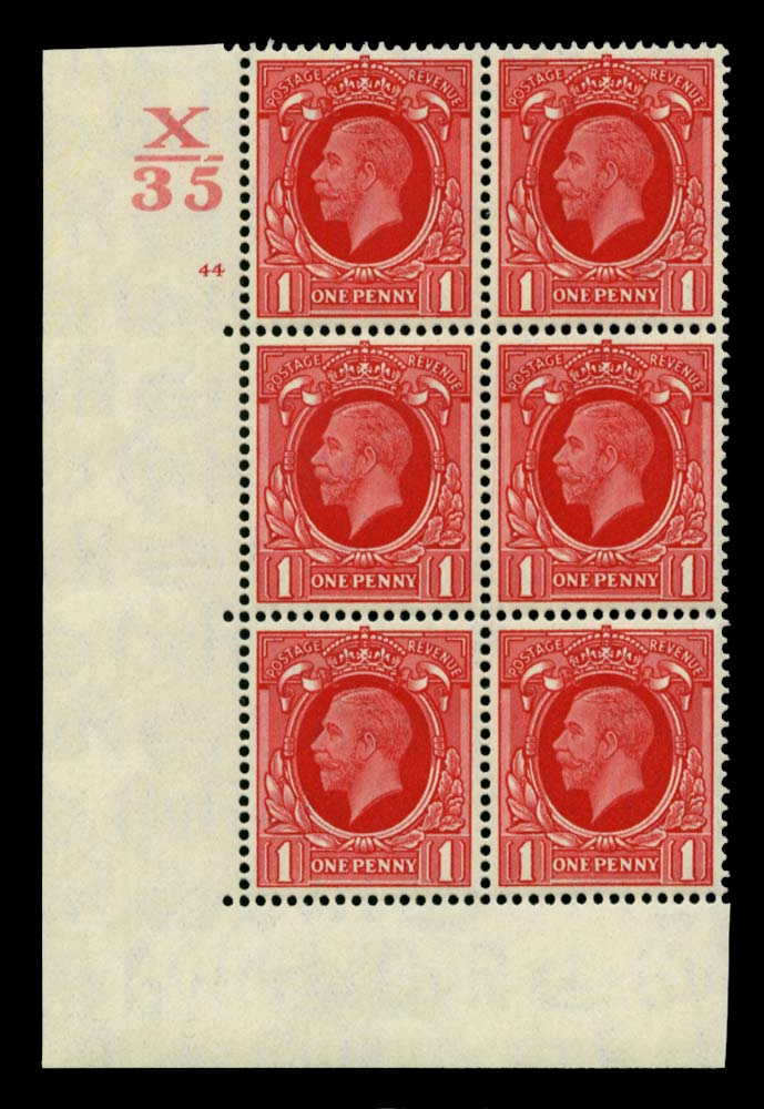 GB 1934  SG440 Mint Control X/35 Cylinder 44 (No dot)
