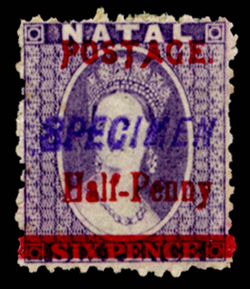 NATAL 1895  SG114ks Specimen