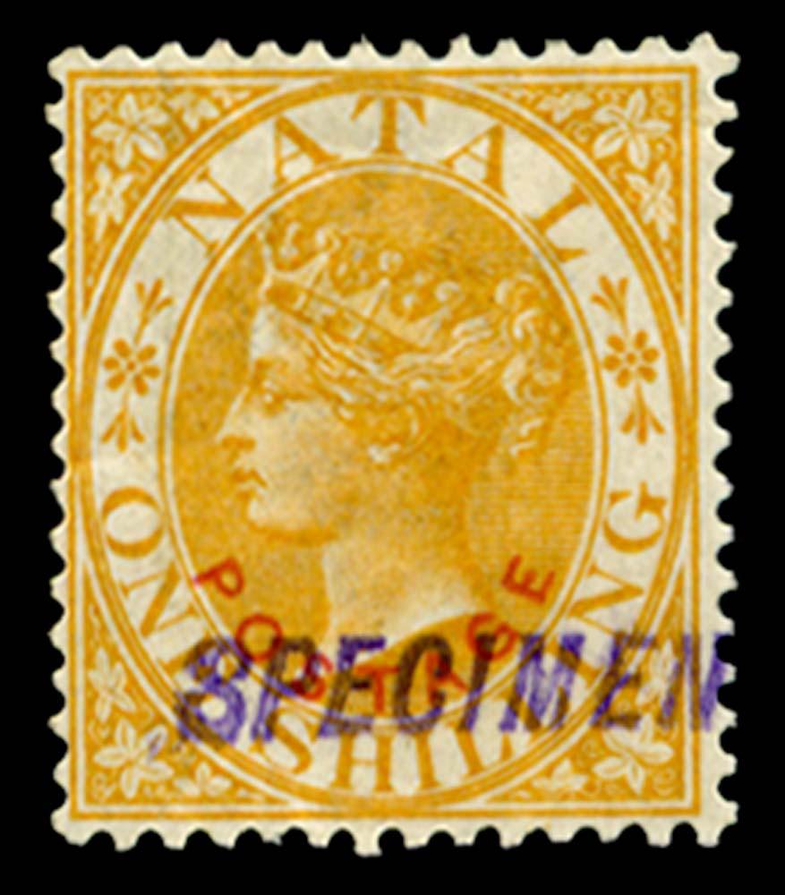 NATAL 1888  SG108s Specimen
