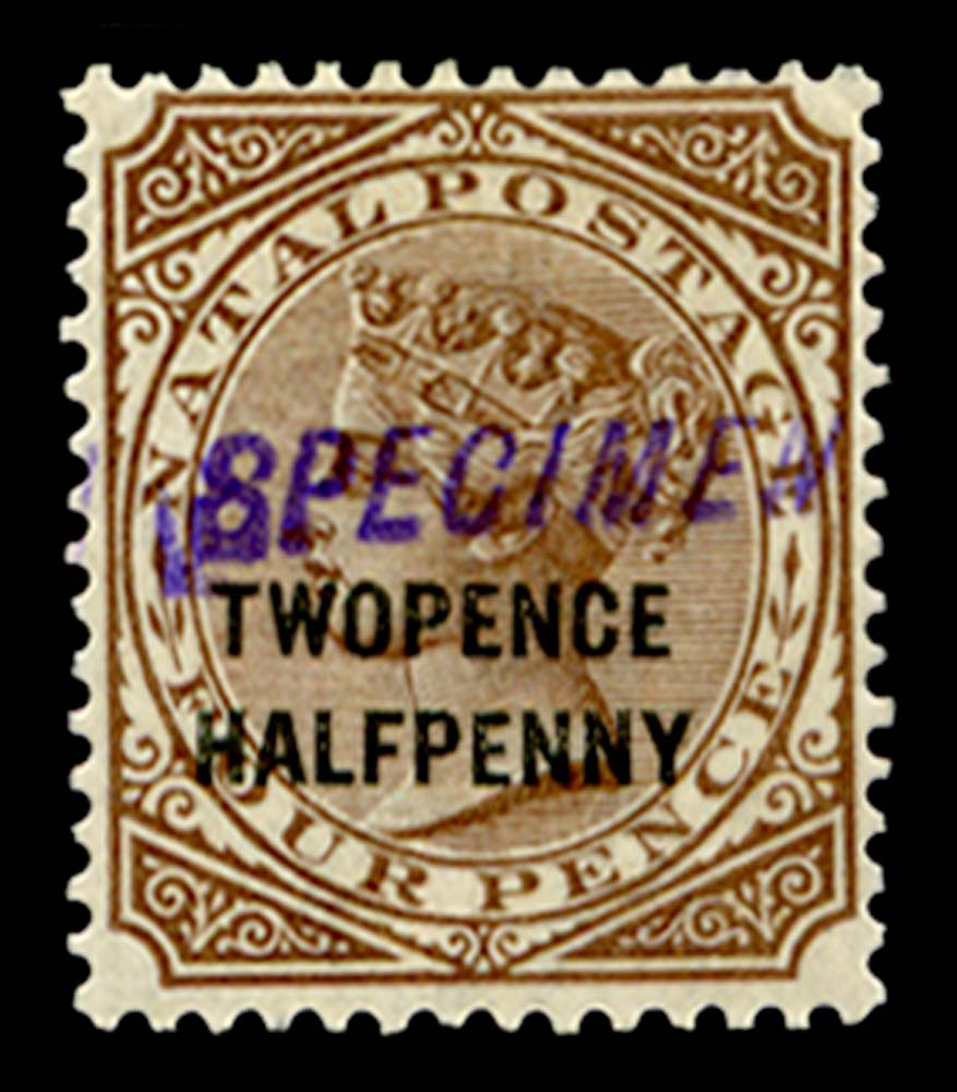 NATAL 1891  SG109s Specimen