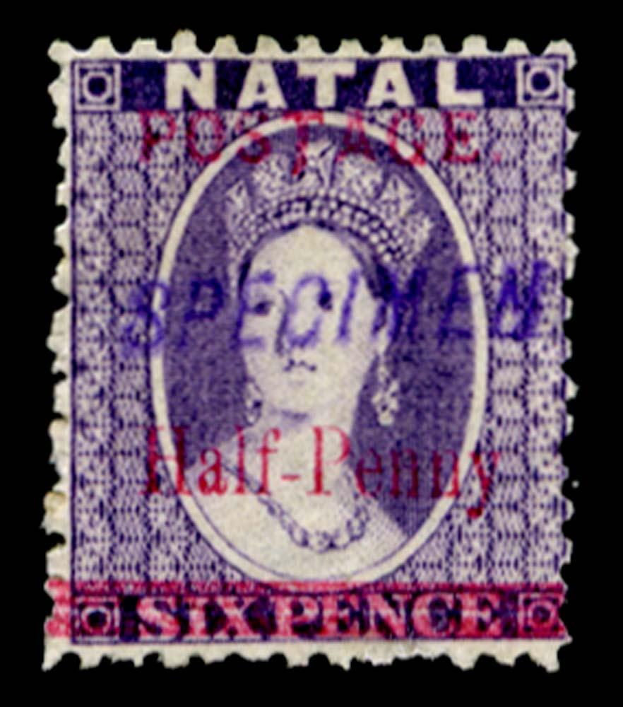 NATAL 1895  SG114es Specimen
