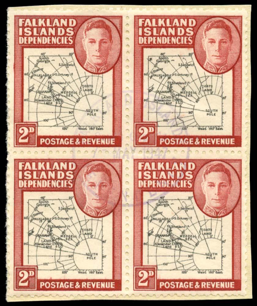 FALKLAND ISLAND DEPS 1946  SGG3/aa Used