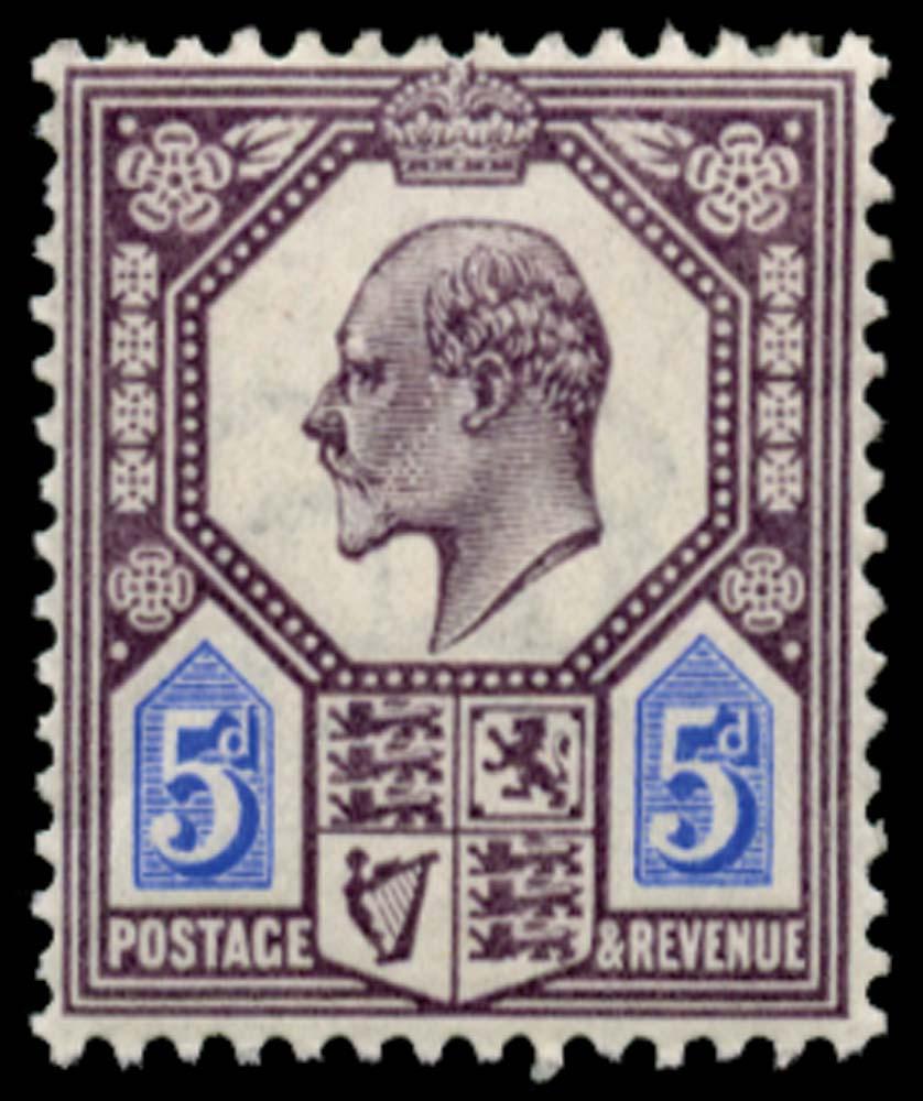 GB 1902  SG242var Mint Unused o.g.