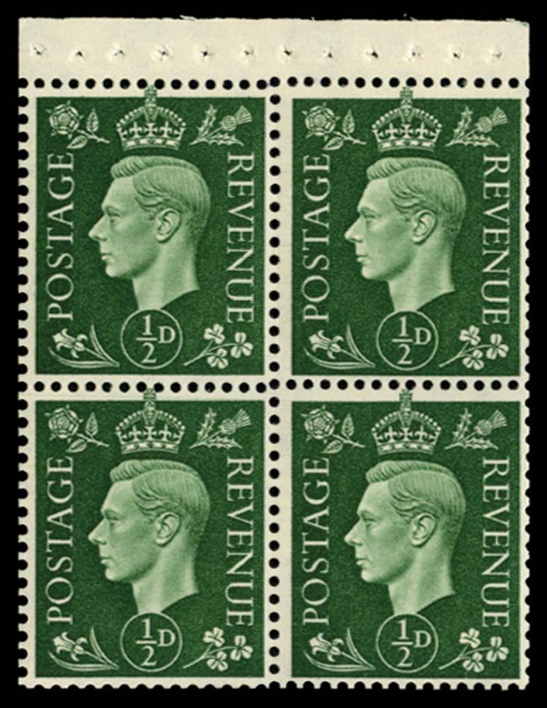 GB 1940  SG462ab Booklet pane
