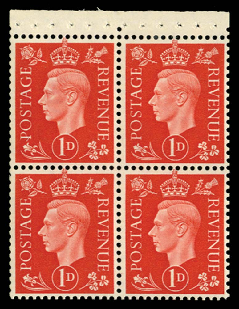GB 1940  SG463ab Booklet pane