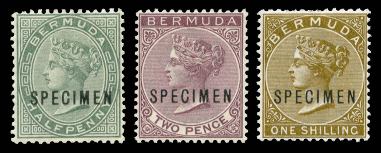 BERMUDA 1883  SG21s, 26s, 29s Specimen