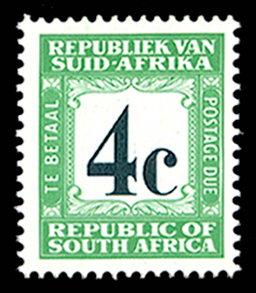SOUTH AFRICA 1967  SGD62c Postage Due