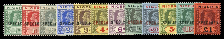 NIGERIA 1914  SG1s/12s Specimen