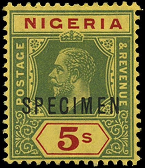 NIGERIA 1914  SG10bs Specimen