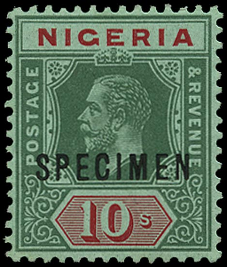 NIGERIA 1914  SG11as Specimen