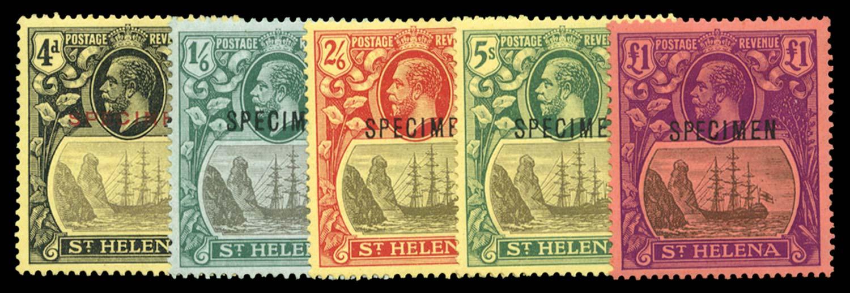 ST HELENA 1922  SG92s/6s Specimen