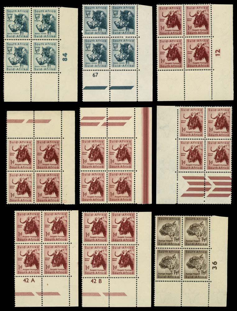 SOUTH AFRICA 1954  SG151/64 Mint
