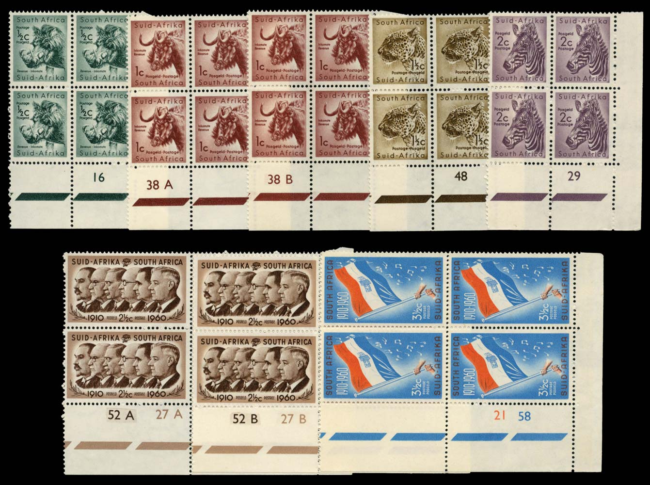 SOUTH AFRICA 1961  SG185/97 Mint