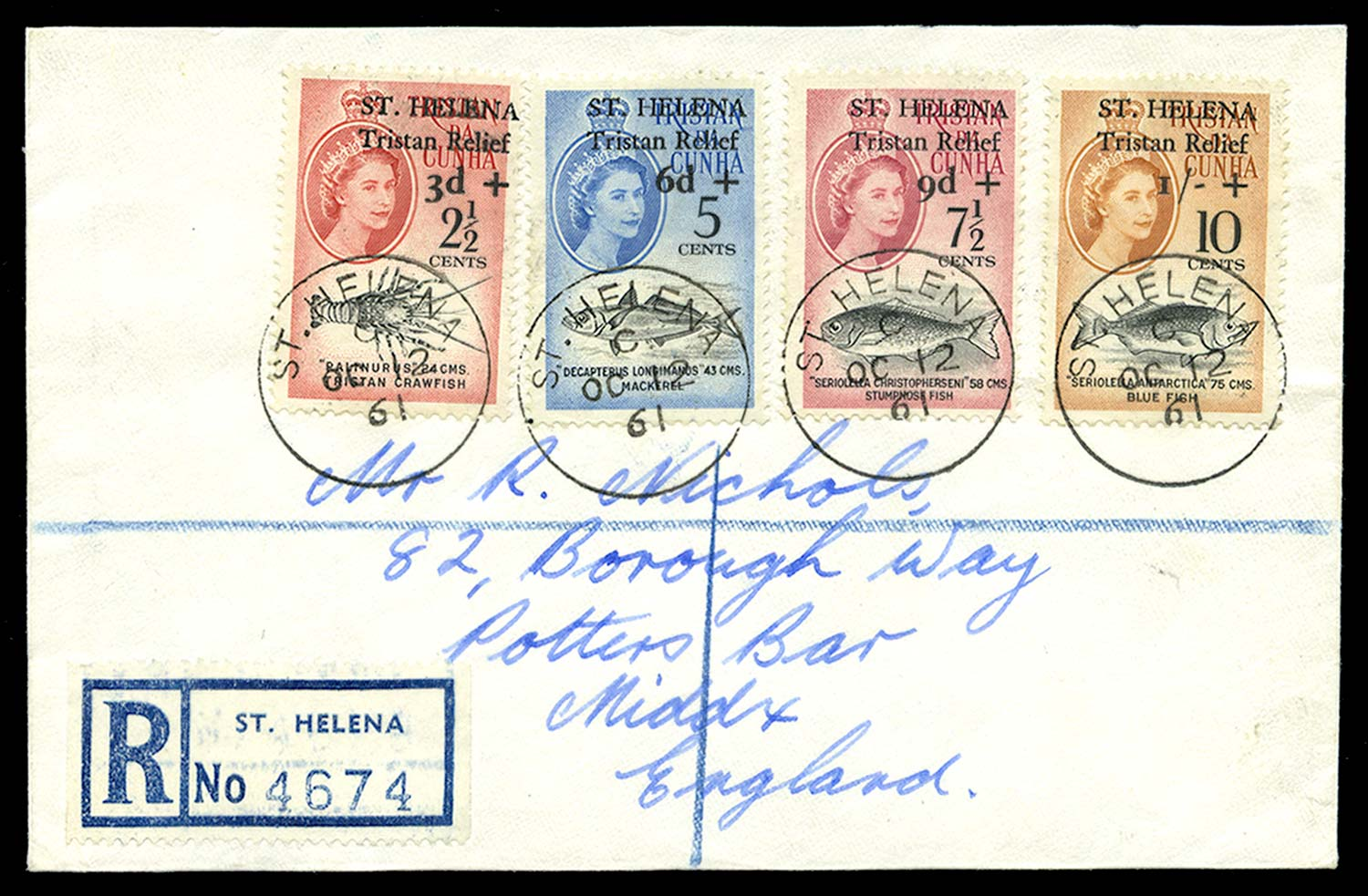 ST HELENA 1961  SG172/5 Cover