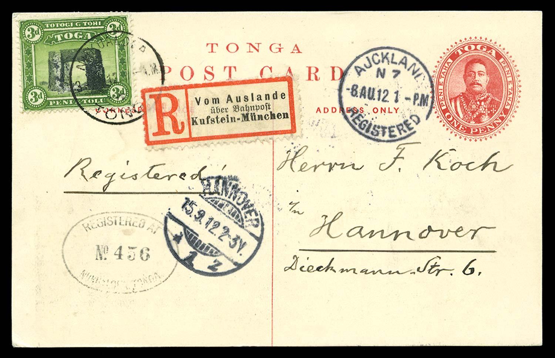 TONGA 1912  SG44 Cover