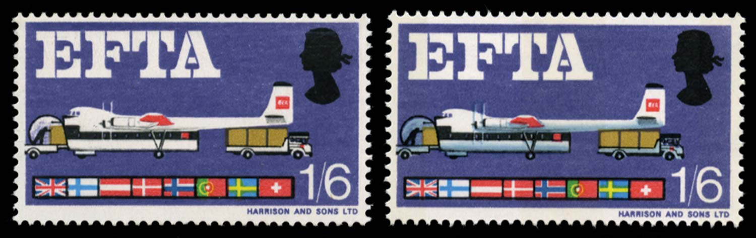 GB 1967  SG716d Mint - blue-grey omitted