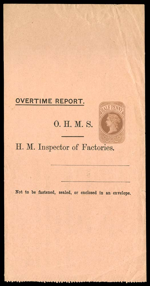 GB c.1901 Postal Stationery - OHMS Inspector of Factories