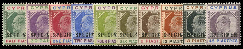 CYPRUS 1902  SG50ws/9s Specimen