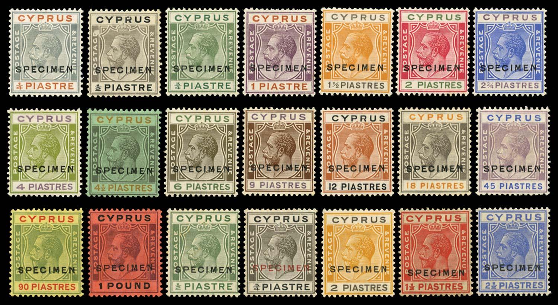 CYPRUS 1924  SG102s/22s Specimen