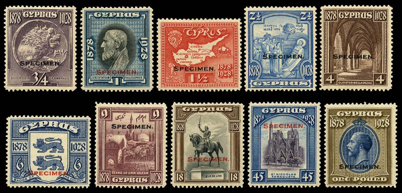CYPRUS 1928  SG123s/32s Specimen