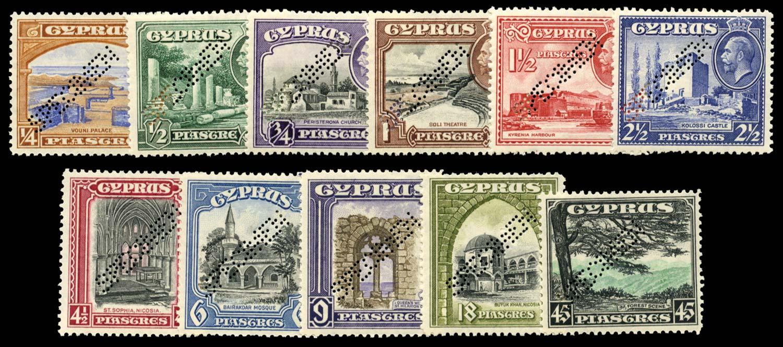 CYPRUS 1934  SG133s/43s Specimen