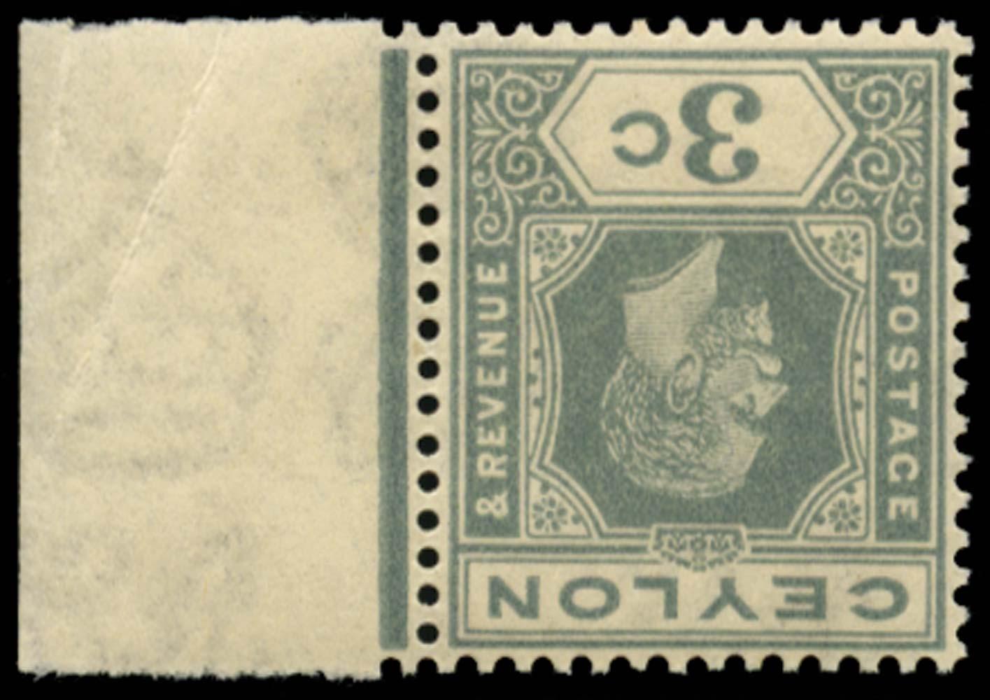 CEYLON 1921-32  SG340w Mint