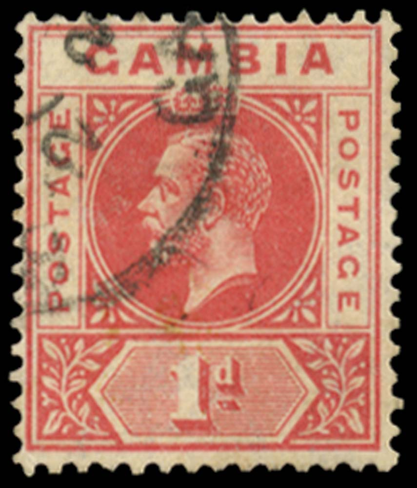 GAMBIA 1921-22  SG109x Used
