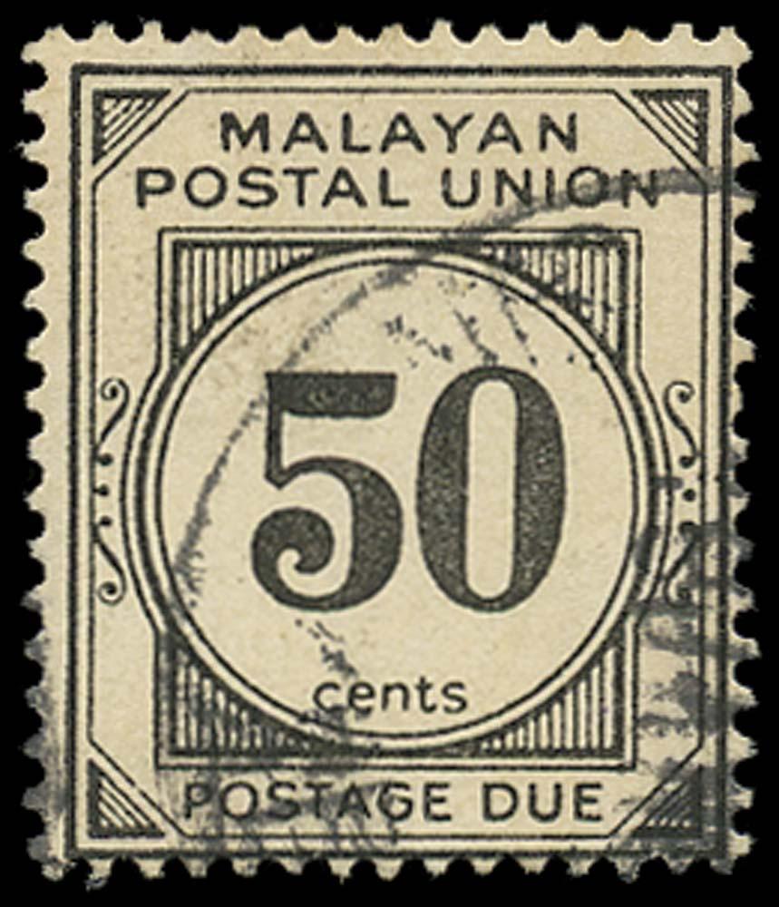 MALAYA - M.P.U. 1966  SGD30 Postage Due