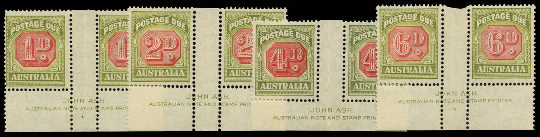 AUSTRALIA 1938  SGD113/14, 116/17 Postage Due