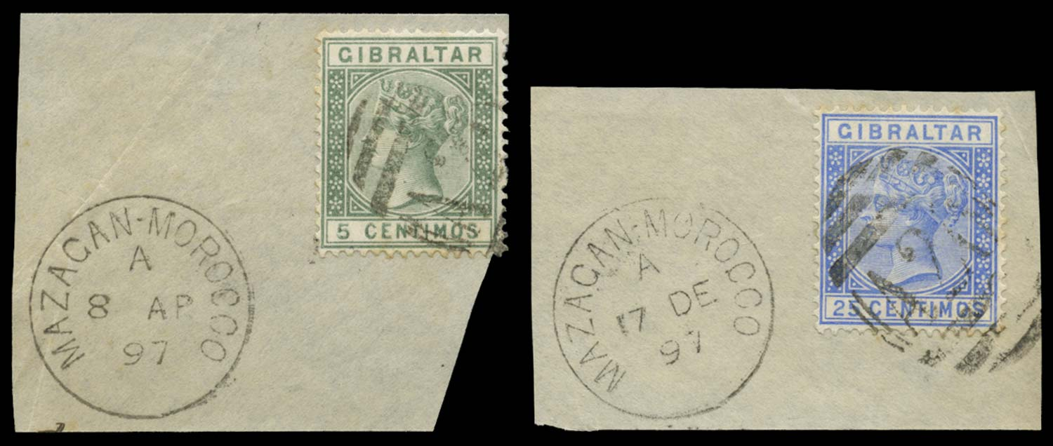 MOROCCO AGENCIES 1889  SGZ67, 70 Cancel