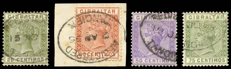 MOROCCO AGENCIES 1889  SGZ143, 146/8 Cancel