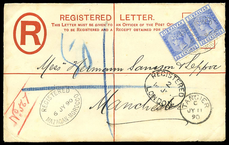 MOROCCO AGENCIES 1890  SGZ70 Cover