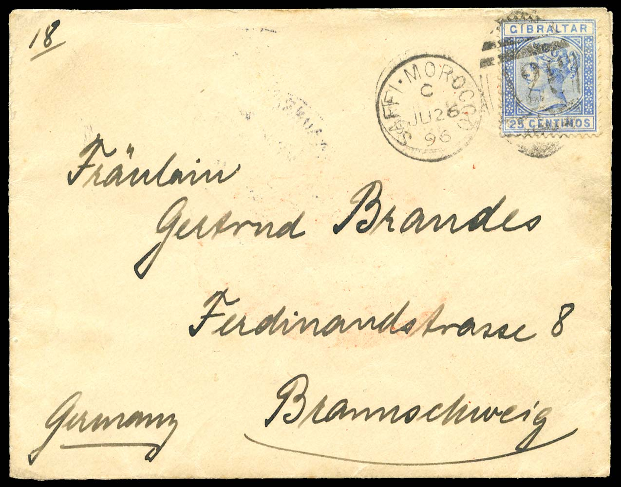 MOROCCO AGENCIES 1896  SGZ115 Cover
