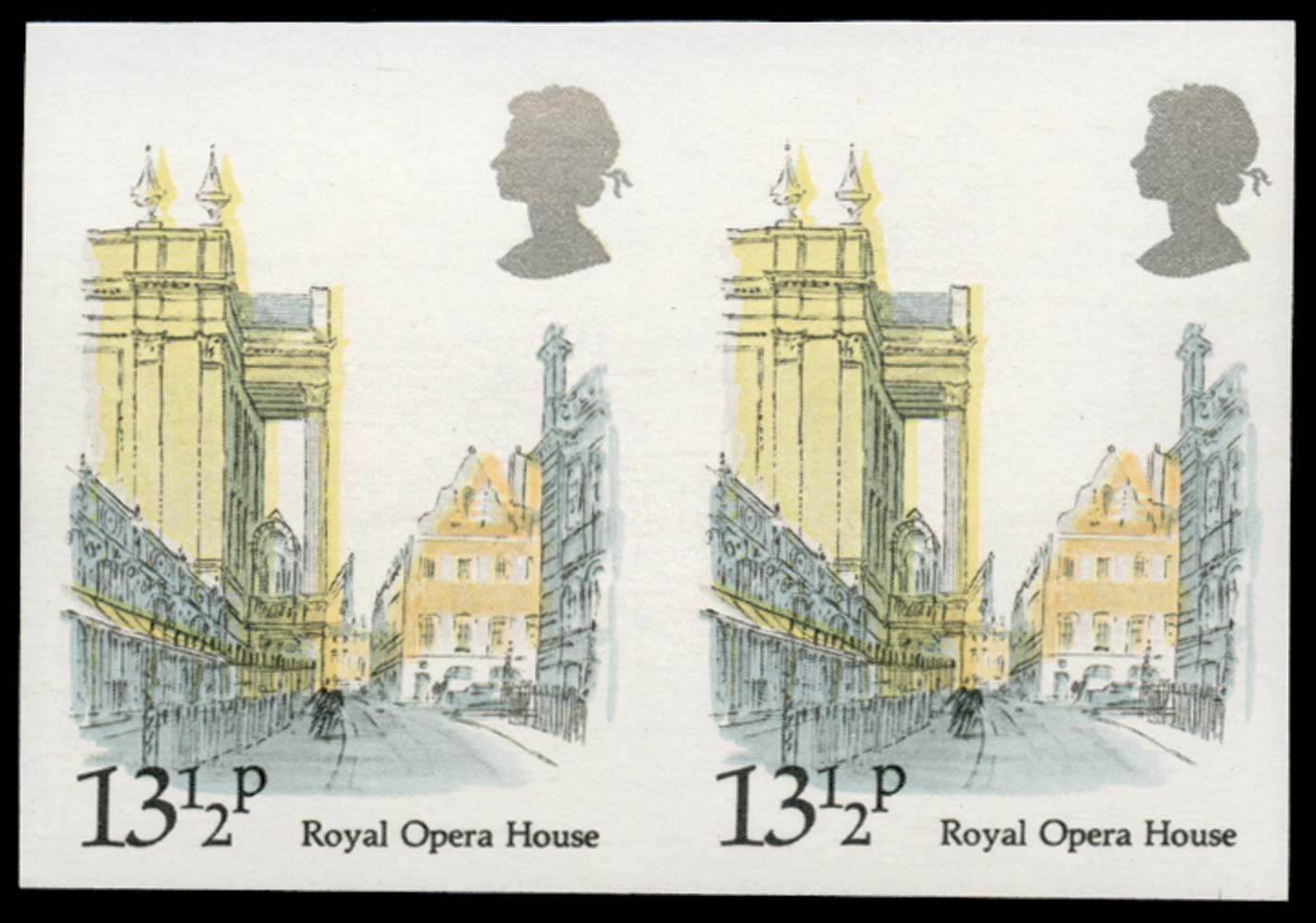 GB 1980  SG1122a Mint - imperforate (pair)