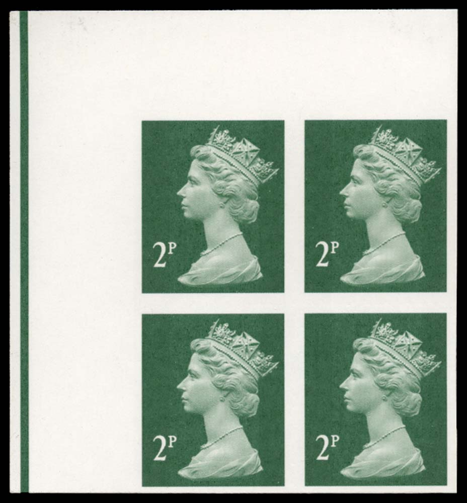 GB 2003  SGY1668a Mint - imperforate block of four