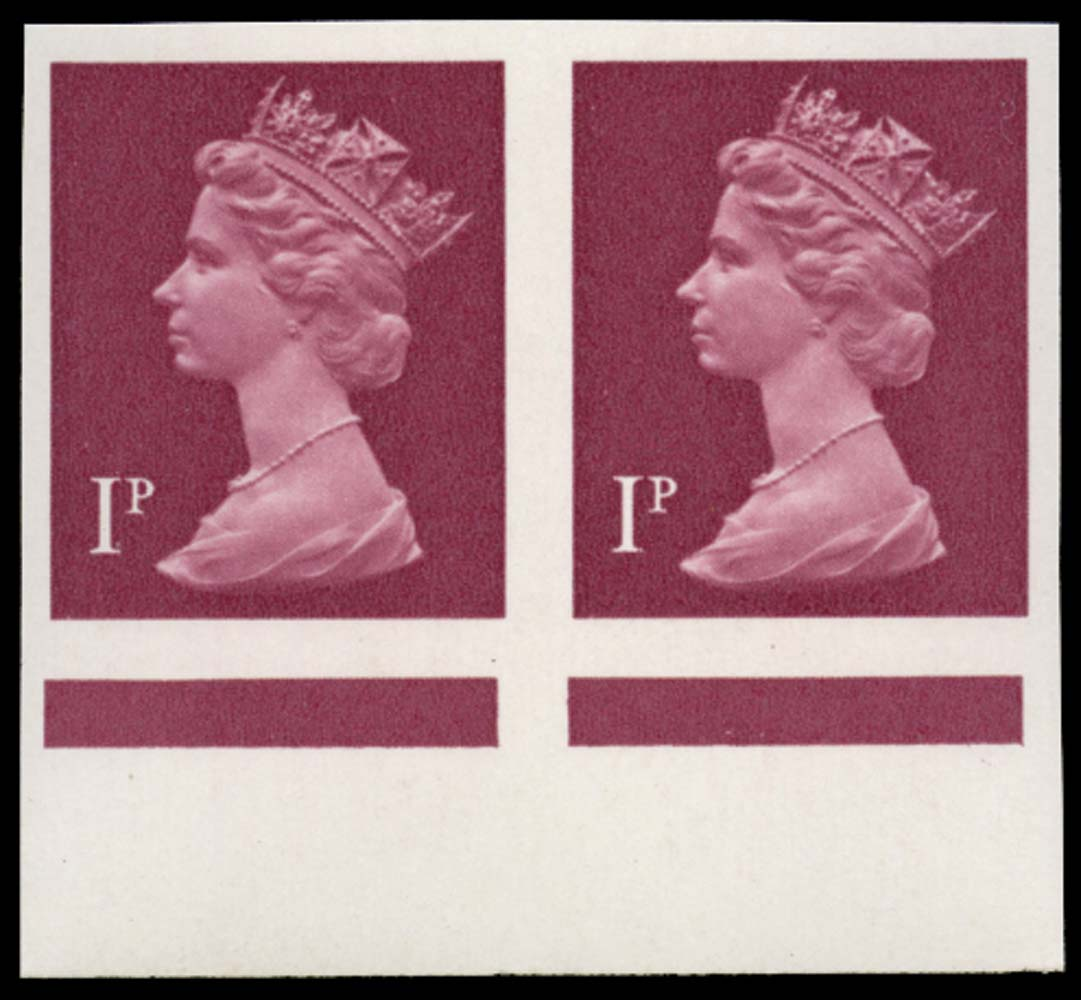 GB 1979  SGX925a Mint - imperforate (pair)