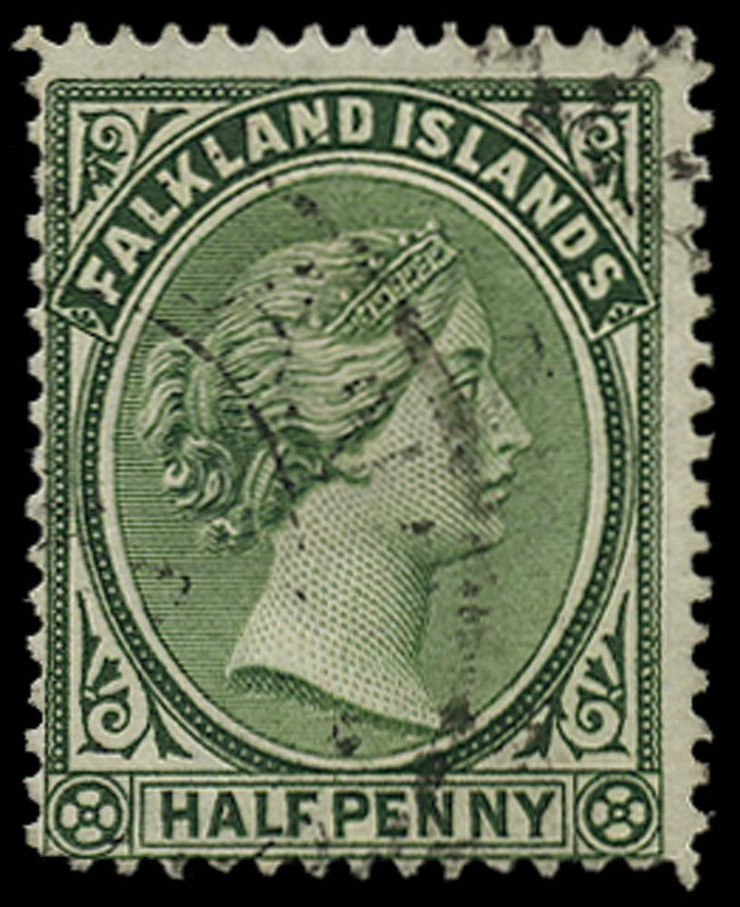 FALKLAND ISLANDS 1891  SG16ax Used