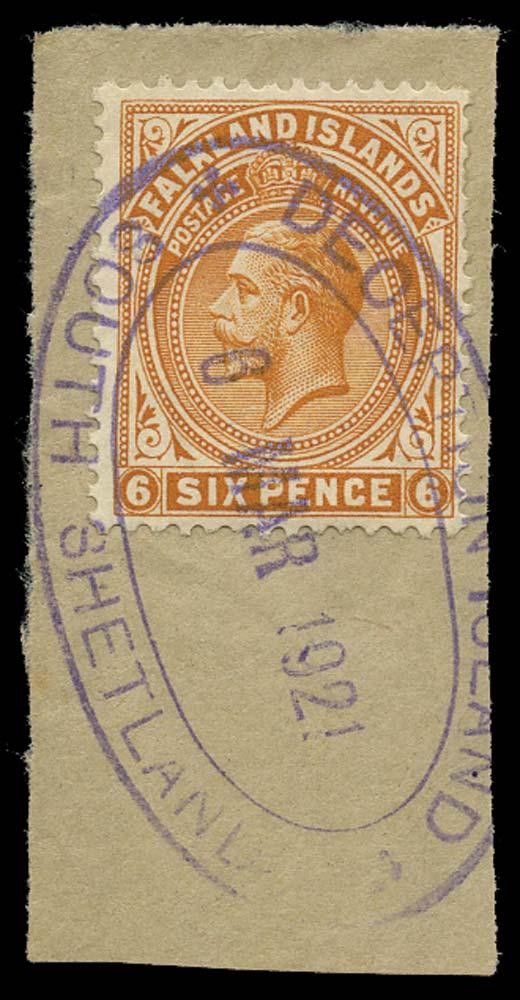 FALKLAND ISLAND DEPS 1912  SGZ114 Cancel