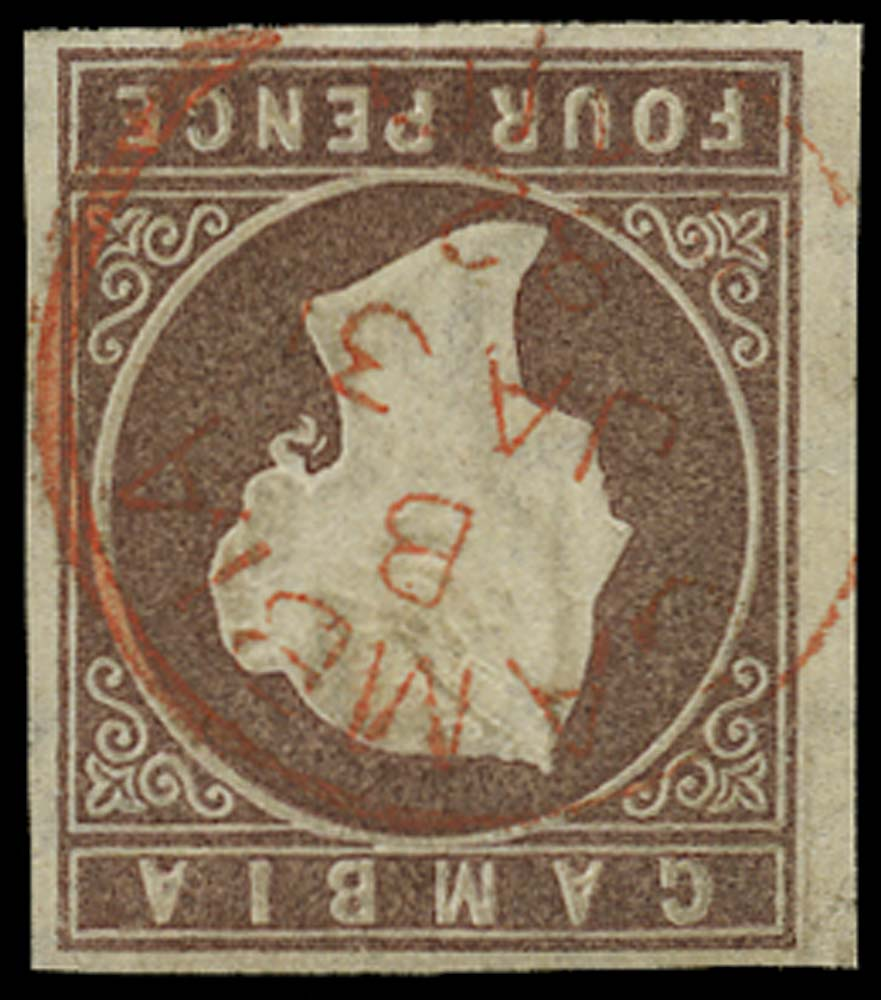GAMBIA 1874  SG5w Used