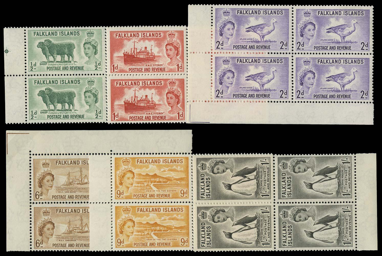 FALKLAND ISLANDS 1955-7  SG187/92 Mint