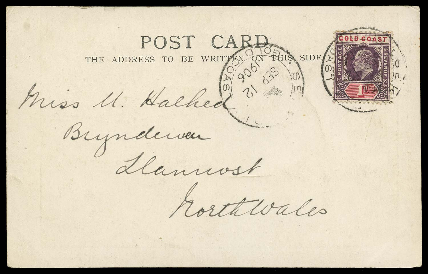 GOLD COAST 1906  SG50a Cover