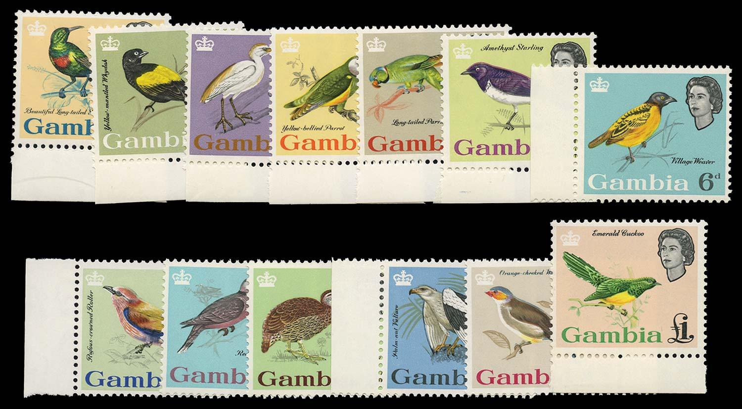 GAMBIA 1963  SG193/205 Mint
