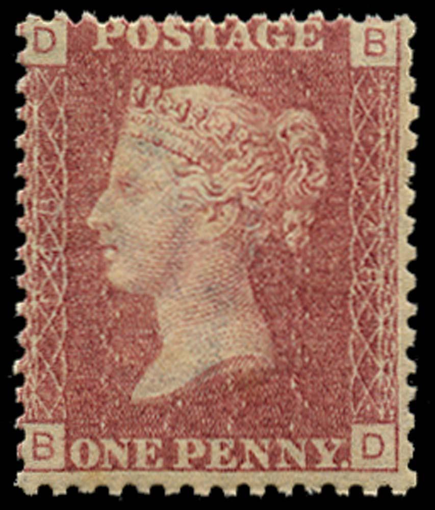 GB 1871  SG43 Pl.148 Mint u/m