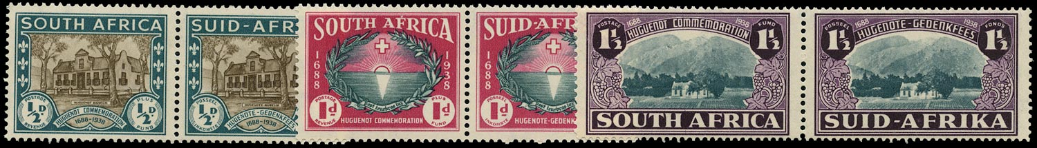 SOUTH AFRICA 1939  SG82/4 Mint Huguenot set of 3 unmounted