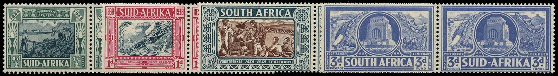SOUTH AFRICA 1938  SG76/9 Mint Voortrekker Memorial Fund set unmounted